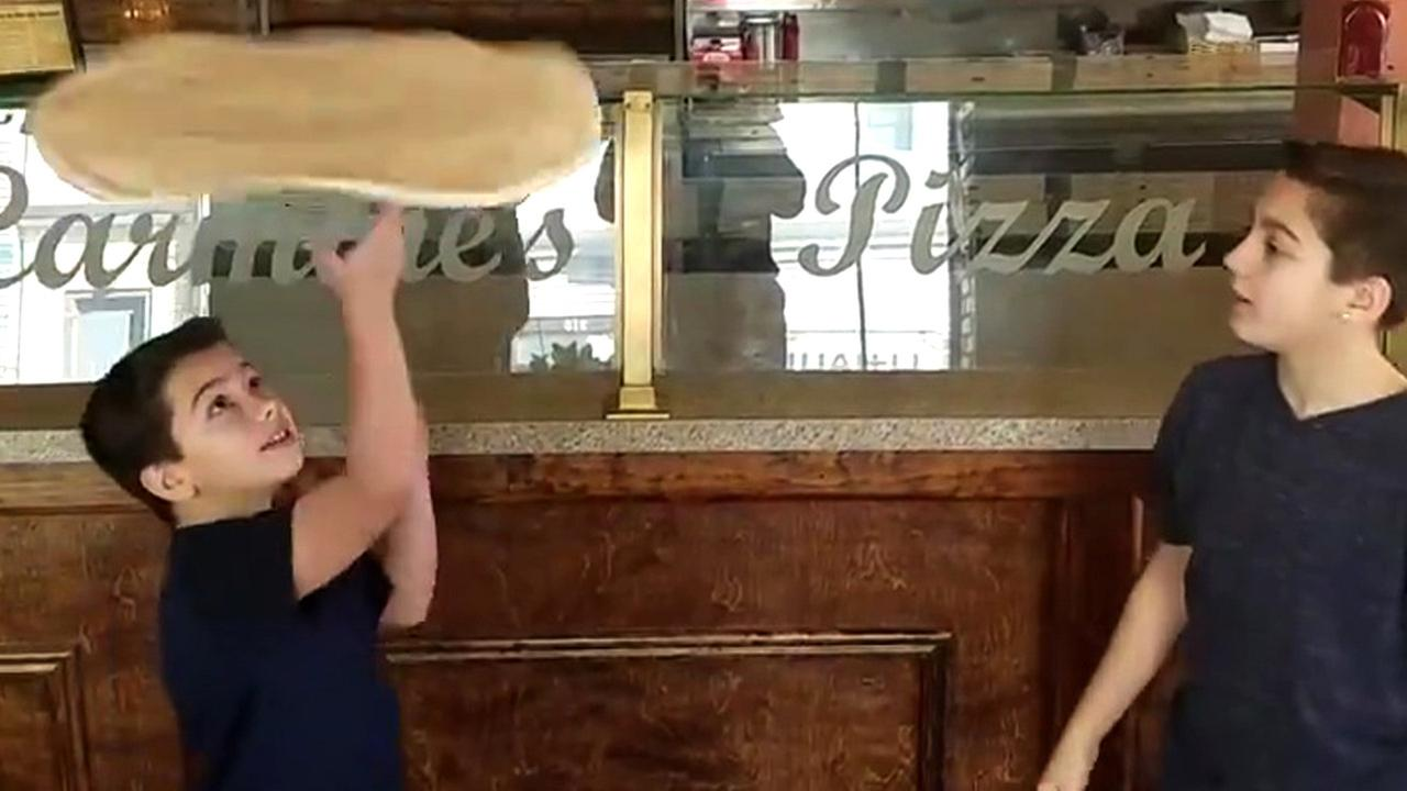 Brothers' impressive pizza dough spinning and tossing video goes viral