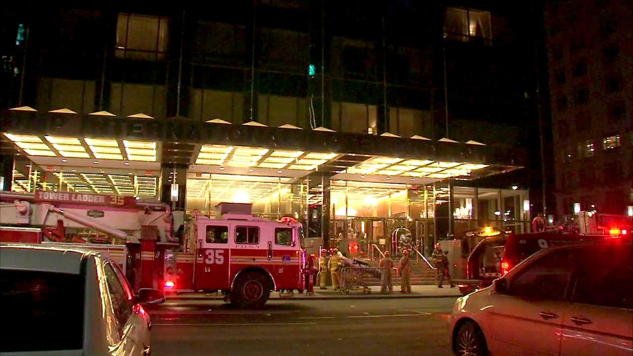 Fire breaks out in Trump International Hotel and Tower on Upper West Side