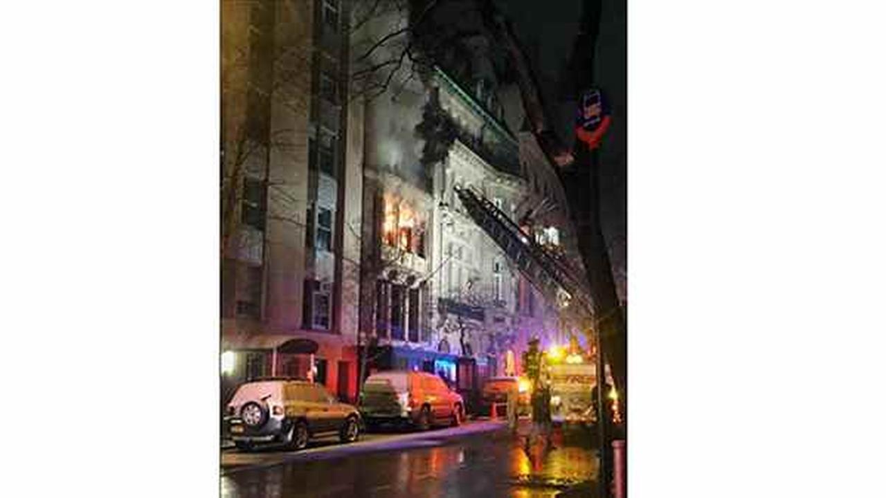 Upper East Side fire burns through townhouse