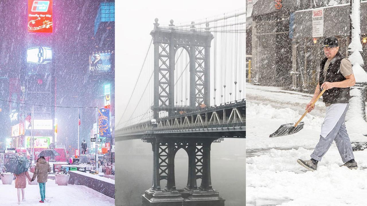 snow photo new york city