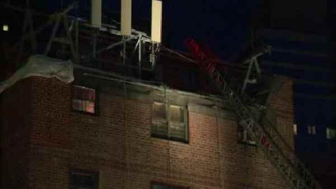 Four people were injured in a fire on the Upper West Side.