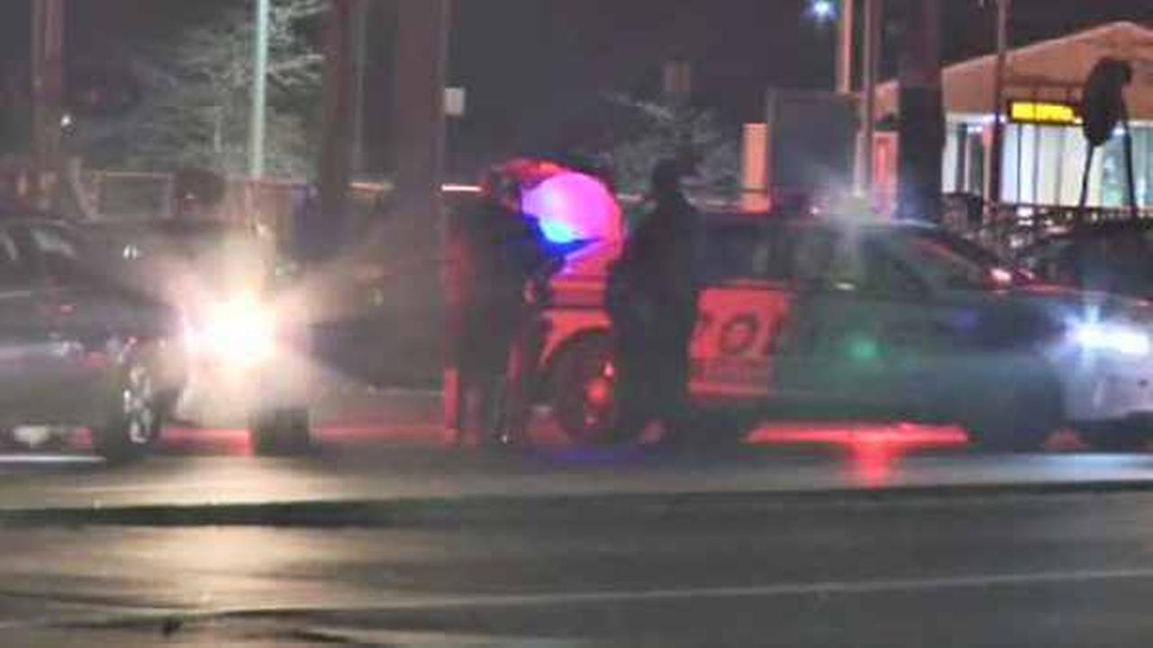 A 23-year-old woman was injured in a hit-and-run incident on Long Island Friday night.