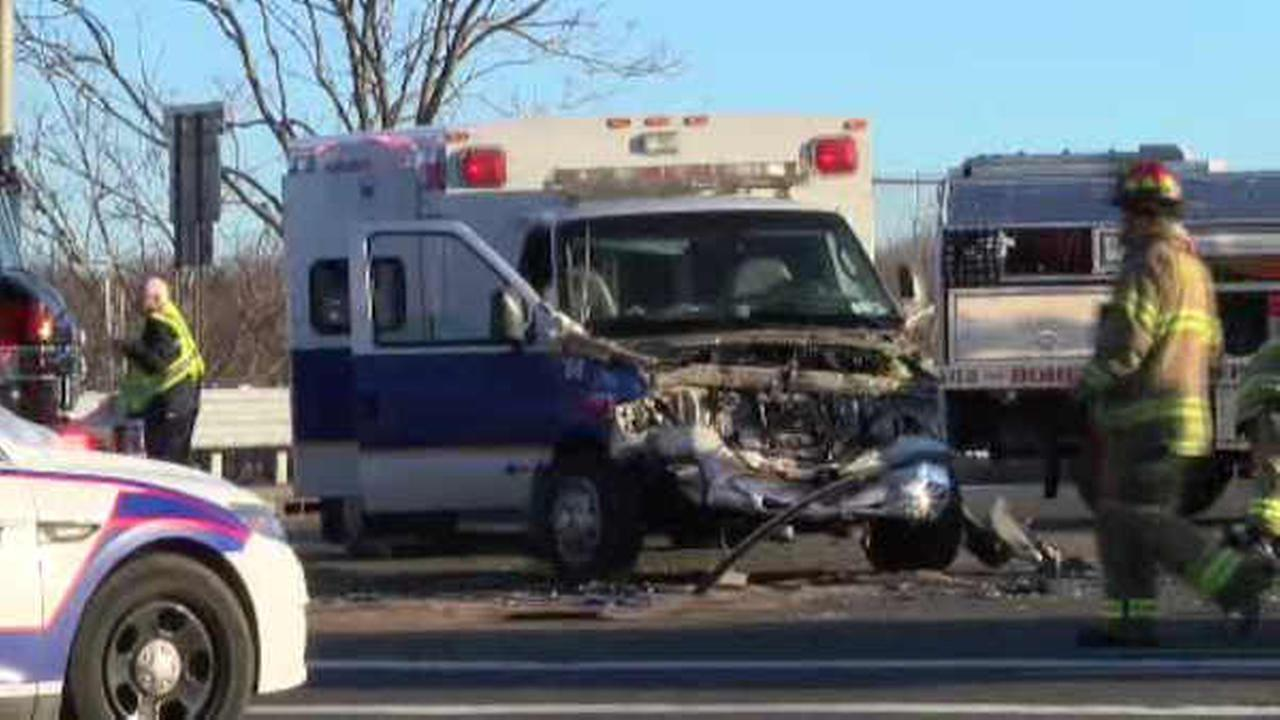 4 hurt when ambulance collides with SUV in Suffolk County