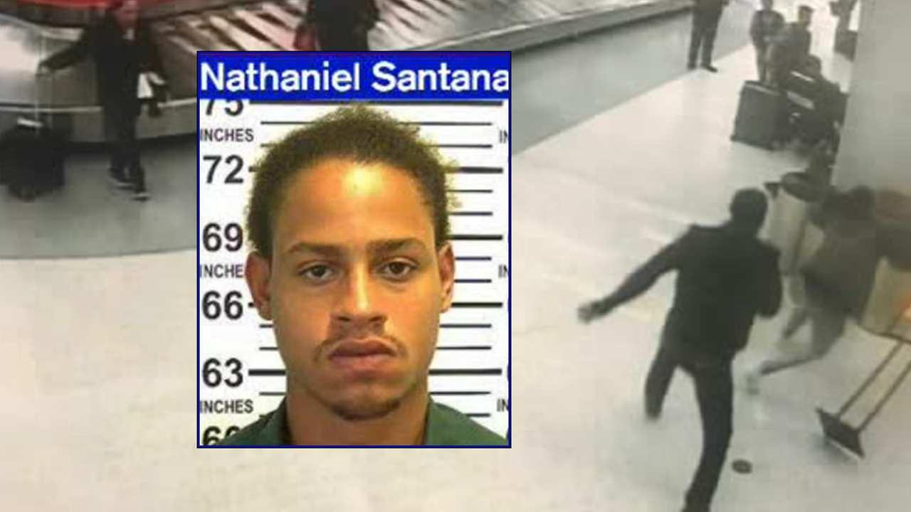 Suspect arrested for allegedly attacking man with tire iron at JFK Airport baggage claim