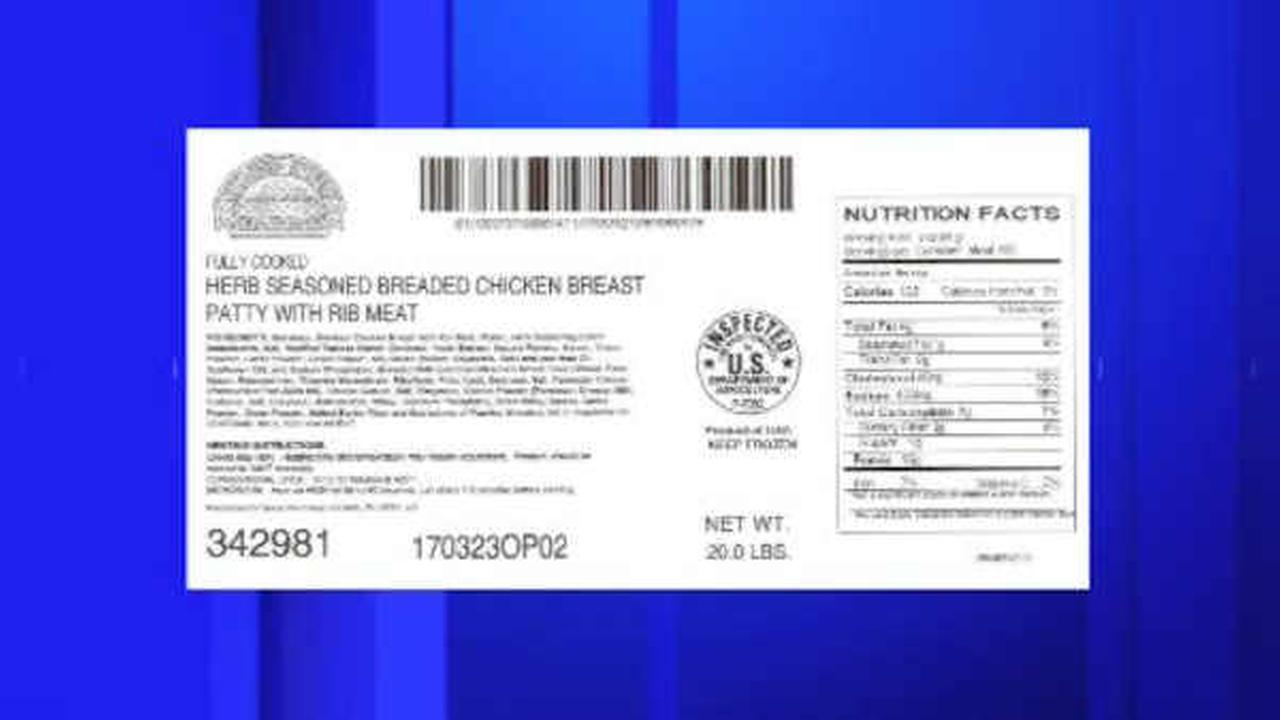 Over 466 tons of breaded chicken recalled due to possible metal in food