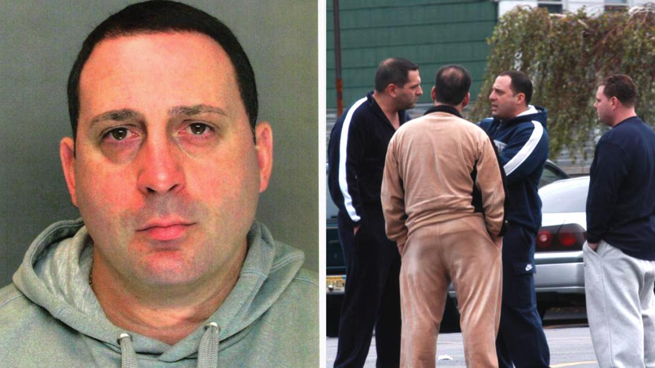 Ronald Giallanzo (left) and a surveillance photo (right) taken in 2006 showing Giallazno with others.