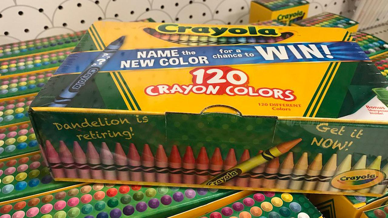 crayola retires dandelion adds a share of blue to its crayons