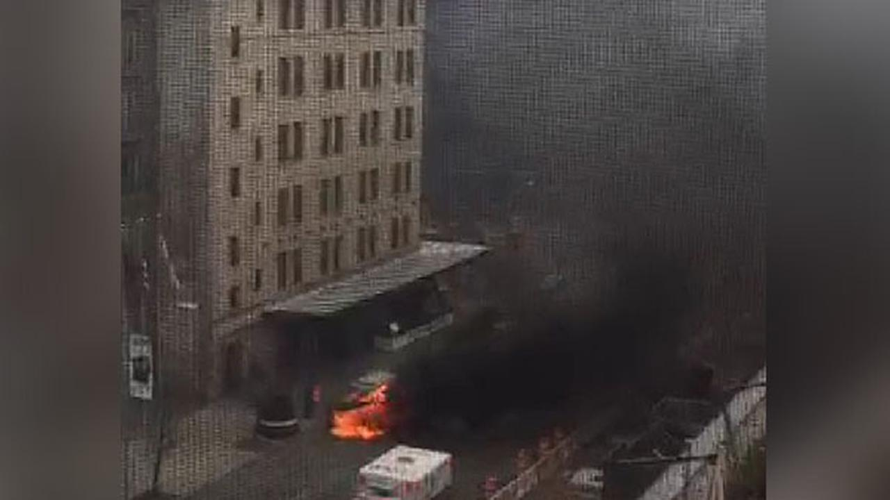VIDEO: Car bursts into flames in the Meatpacking District