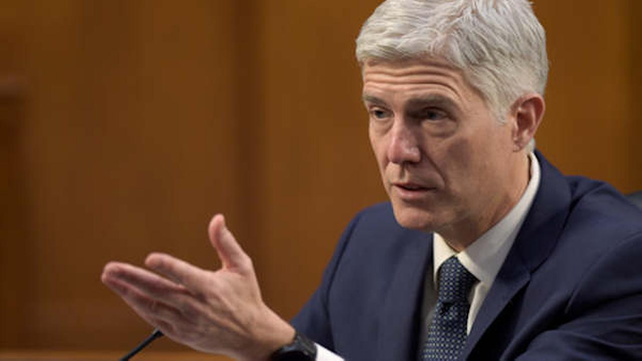 Supreme Court Justice nominee Neil Gorsuch testifies on Capitol Hill in Washington, Wednesday, March 22, 2017 (AP Photo/Susan Walsh)