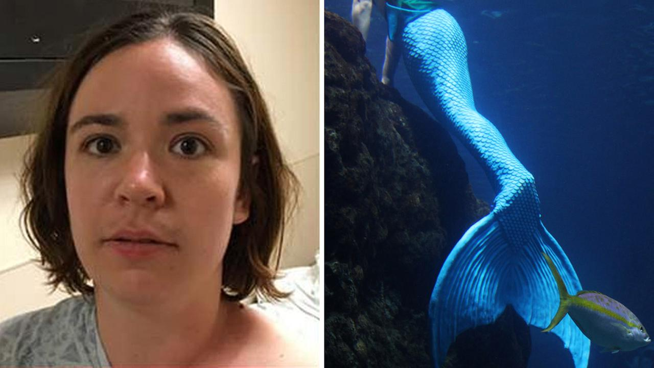 Left: Woman found by police | Right: File image of a mermaid