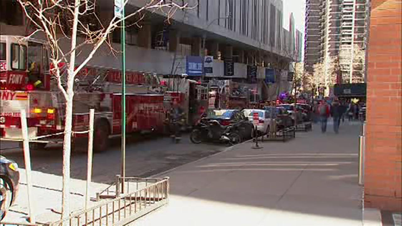 A fire broke out Sunday at Pace University in Manhattan.