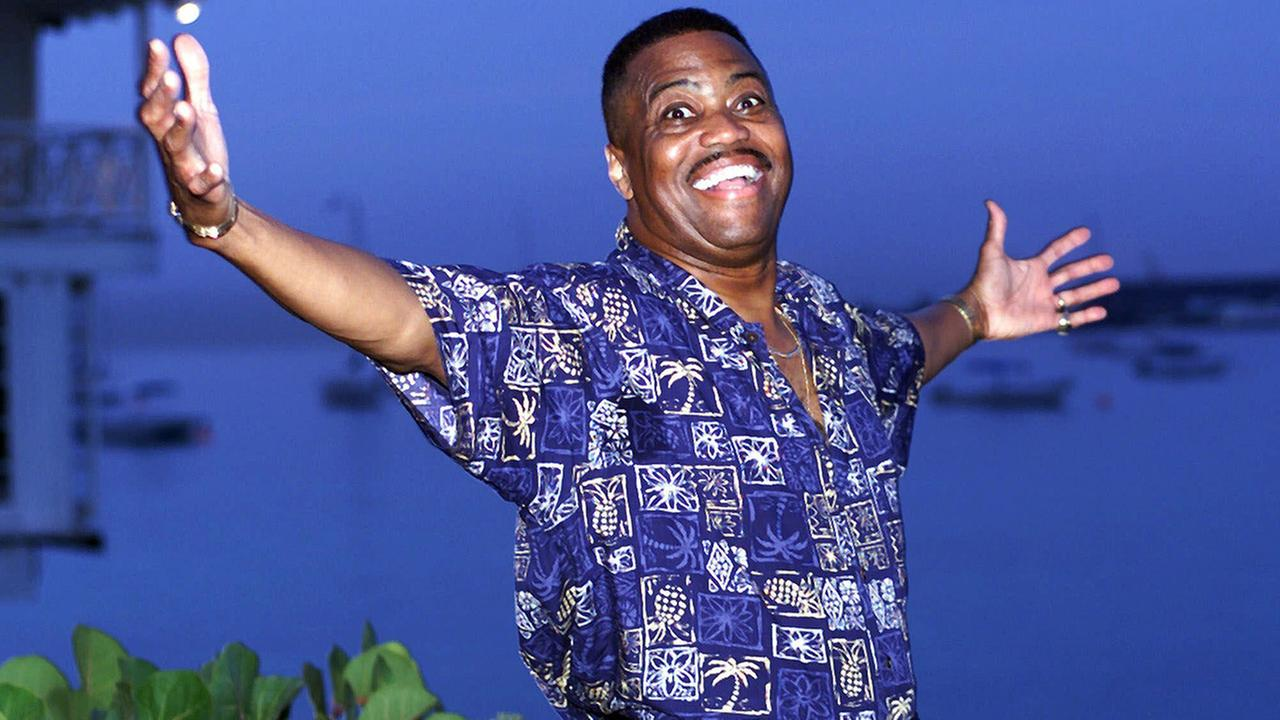 Cuba Gooding Sr., lead vocalist of the legendary r&b/pop group The Main Ingredient, gestures during an interview in Bridgetown, Barbados on Aug. 18, 1999