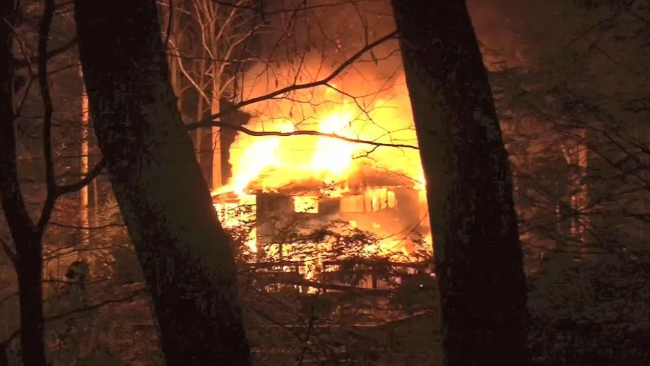 A fire burned a home in Briarcliff Manor to the ground.