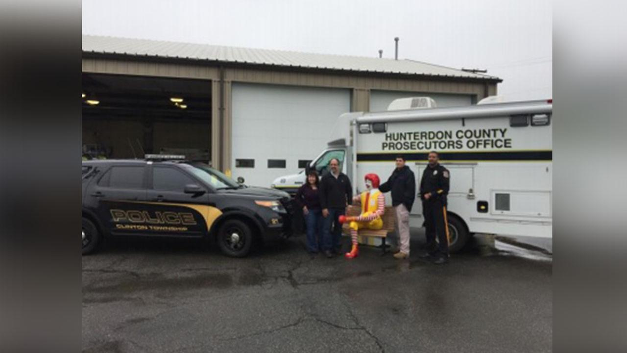 Ronald McDonald statue swiped from New Jersey McDonald's has been found