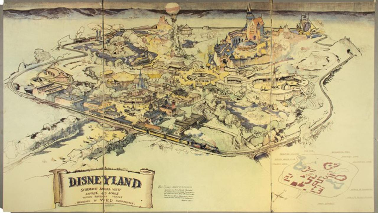 Walt Disneys original 1953 Disneyland map.