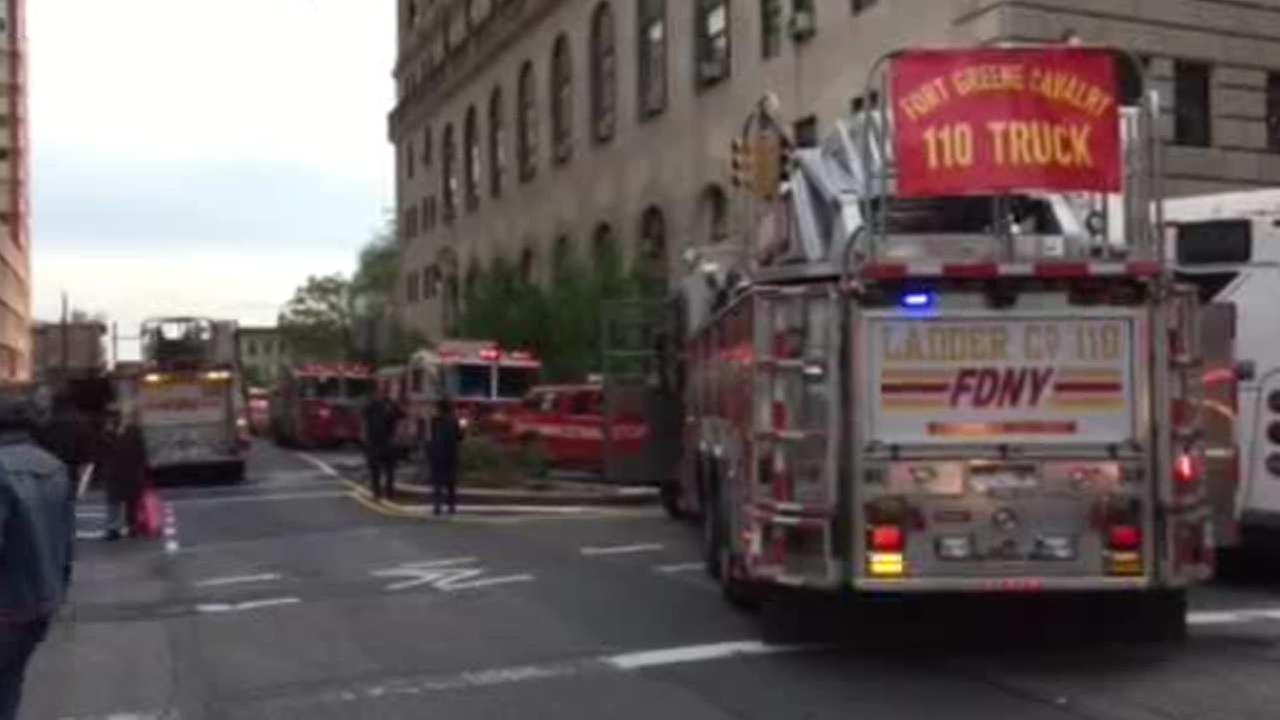 Courthouse in Brooklyn catches fire, 10 minor injuries