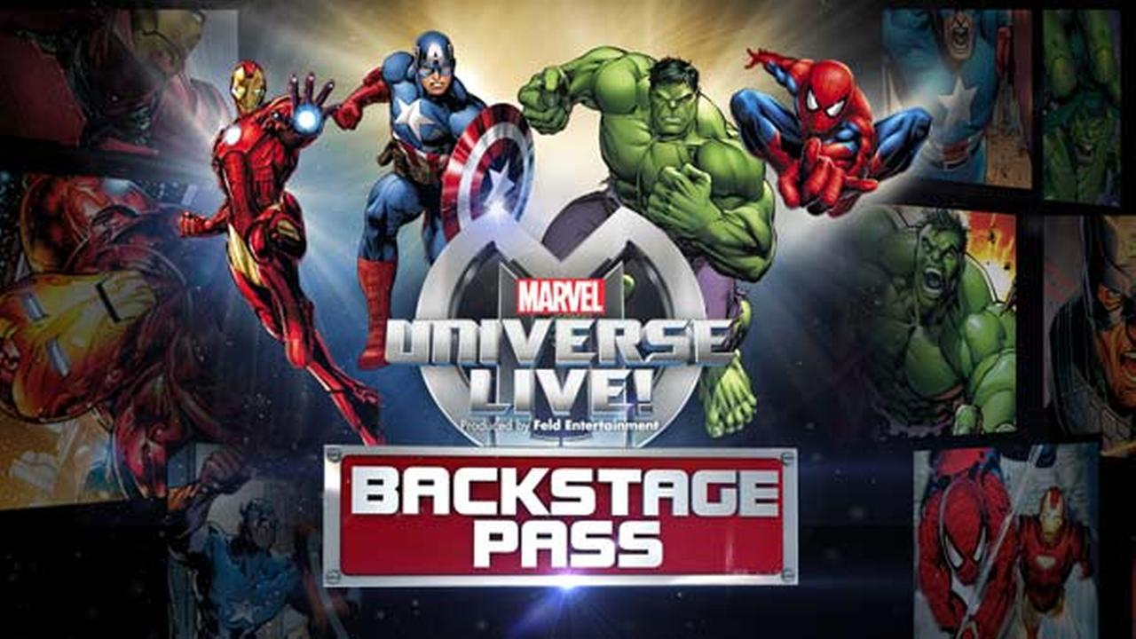 Only on ABC7 New York: Watch Marvel Universe Live! Backstage Pass