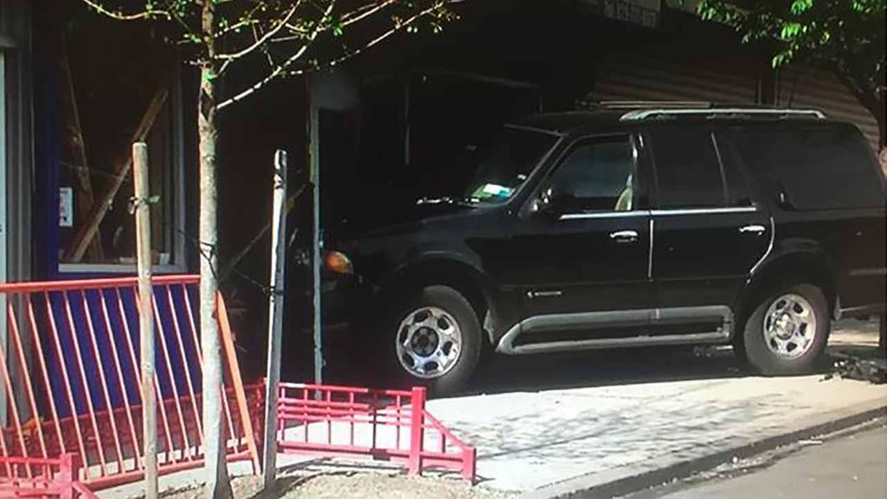 An SUV crashed into a barbershop in the Bronx Tuesday.