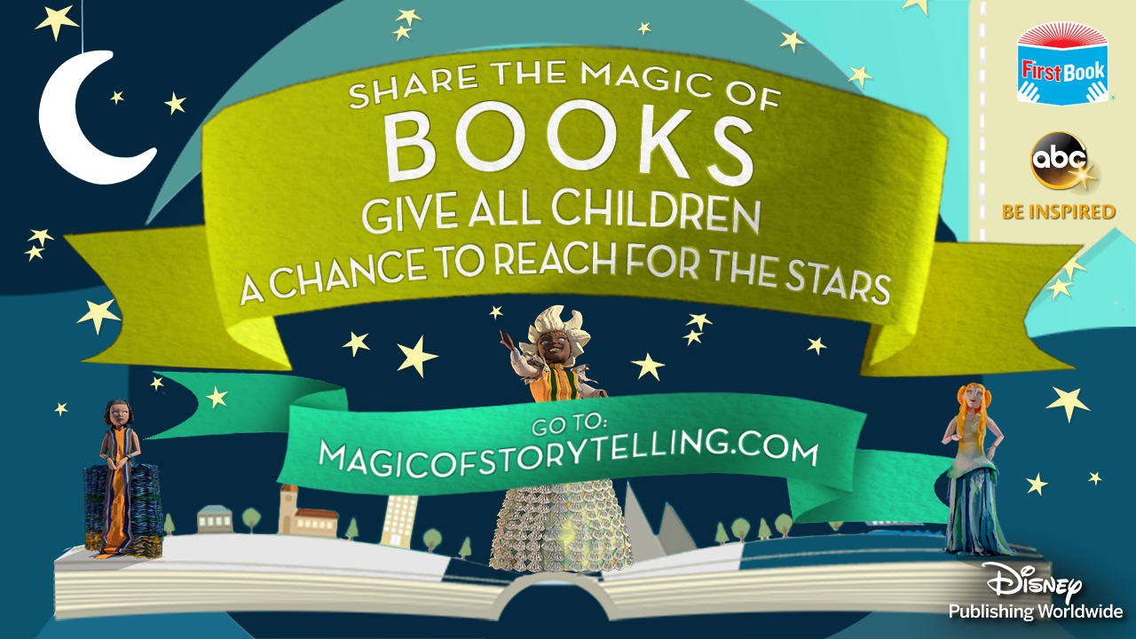 Join the Magic of Storytelling and help Disney donate up to 1 Million books!