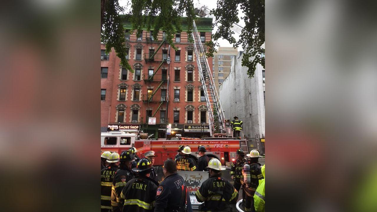 Fire breaks out at Artichoke Basille's Pizza in East Village
