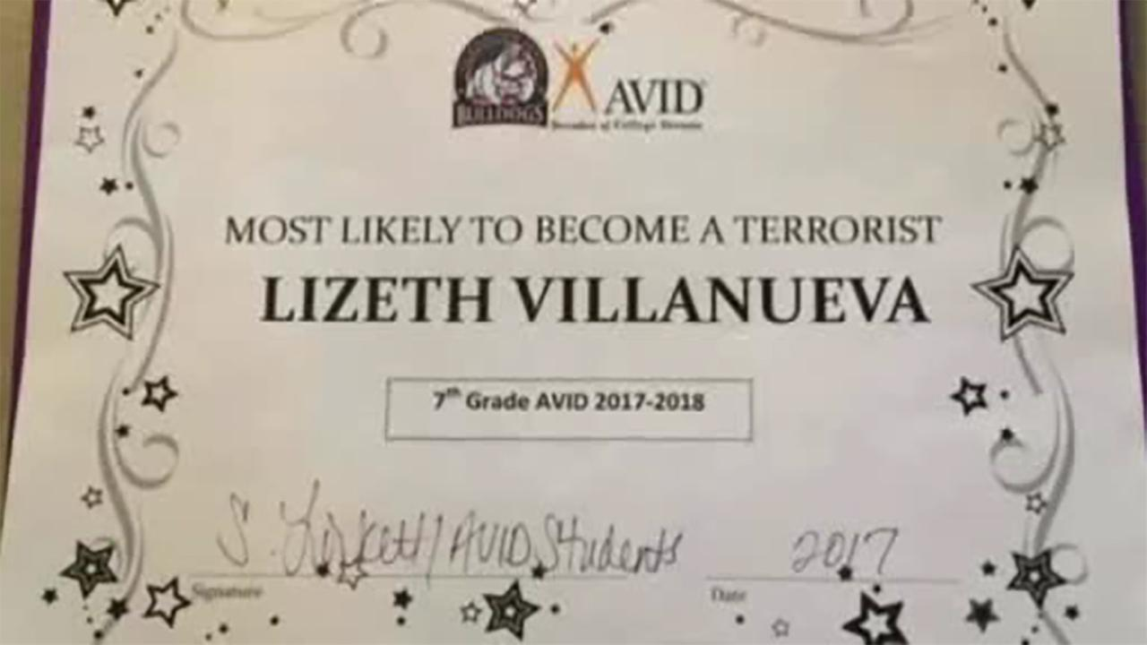 Officials apologize after student named 'most likely to become a terrorist'