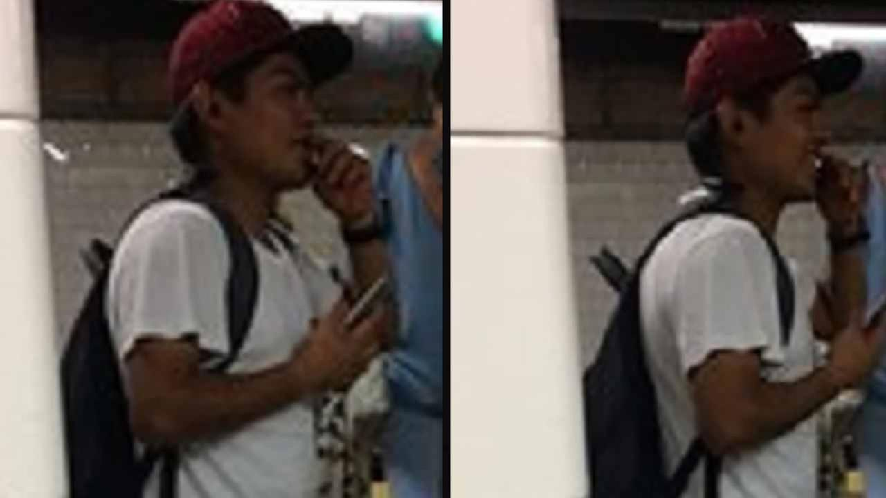 Police are looking for a man who they said grabbed a woman coming out of Grand Central.