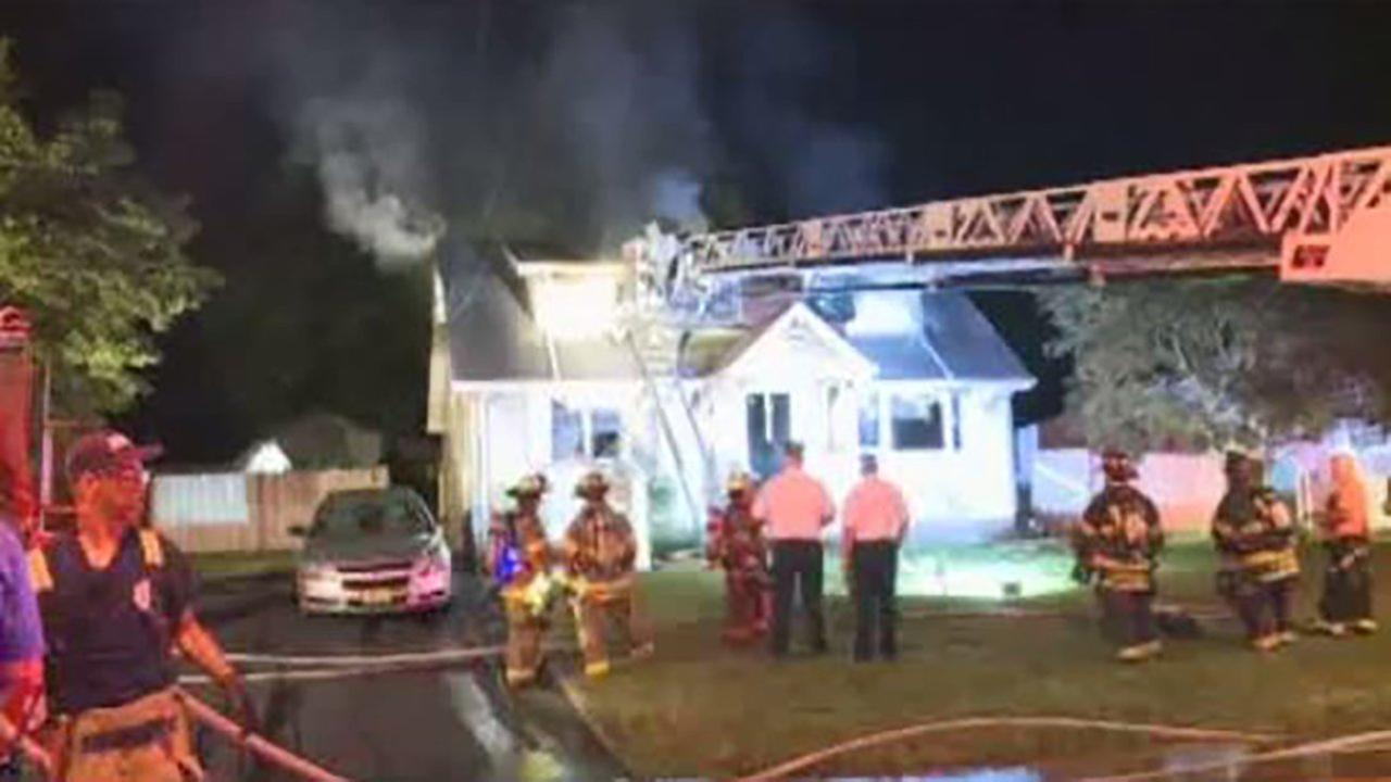 A fire broke out in a house on Stockton Road early Wednesday.