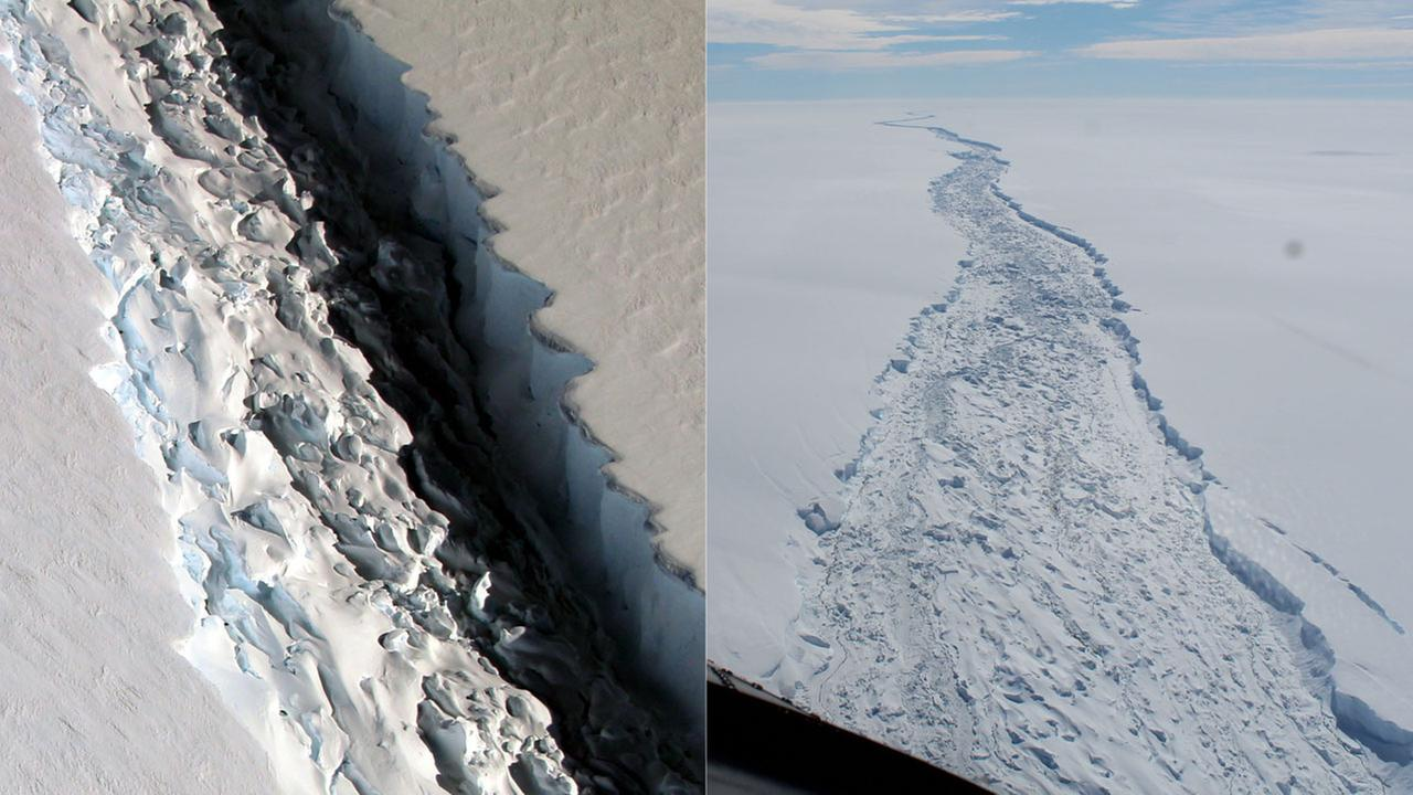 The Larsen C ice shelf in Antarctica