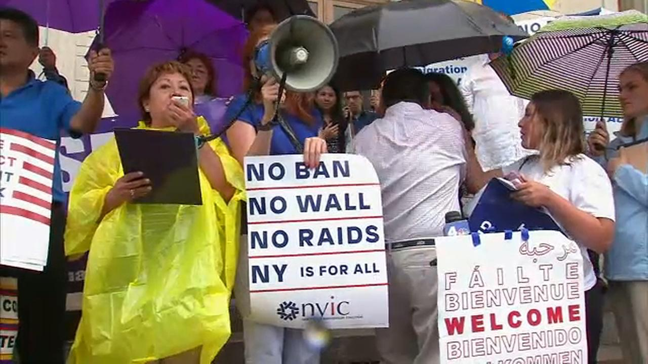 Immigrants rights advocates rallied in White Plains in support of the Immigrant Protection Act.