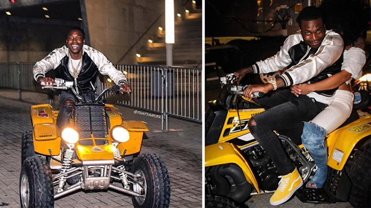Rapper Meek Mill takes on community service in reckless ATV, motorcycle riding case