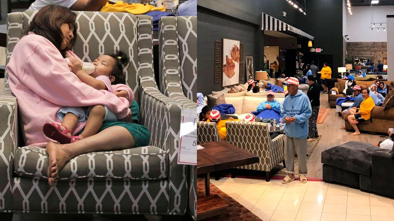 Furniture stores open for people in need of shelter
