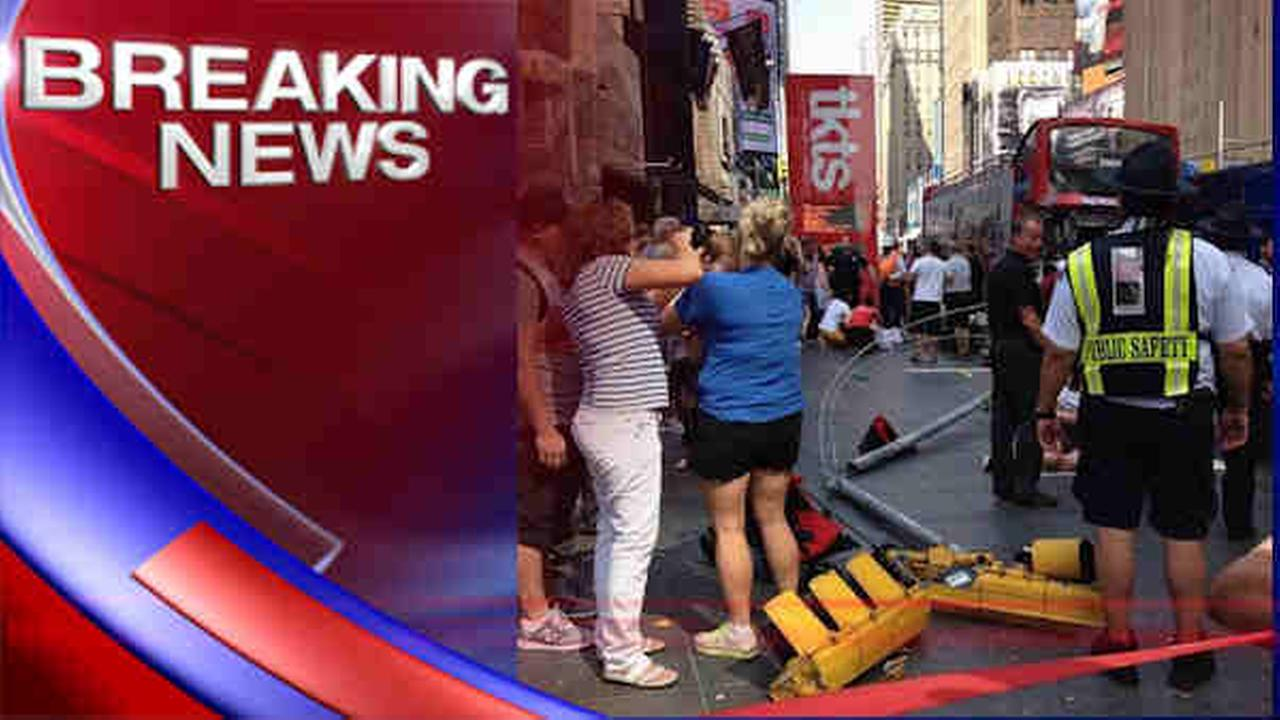 times square bus accident