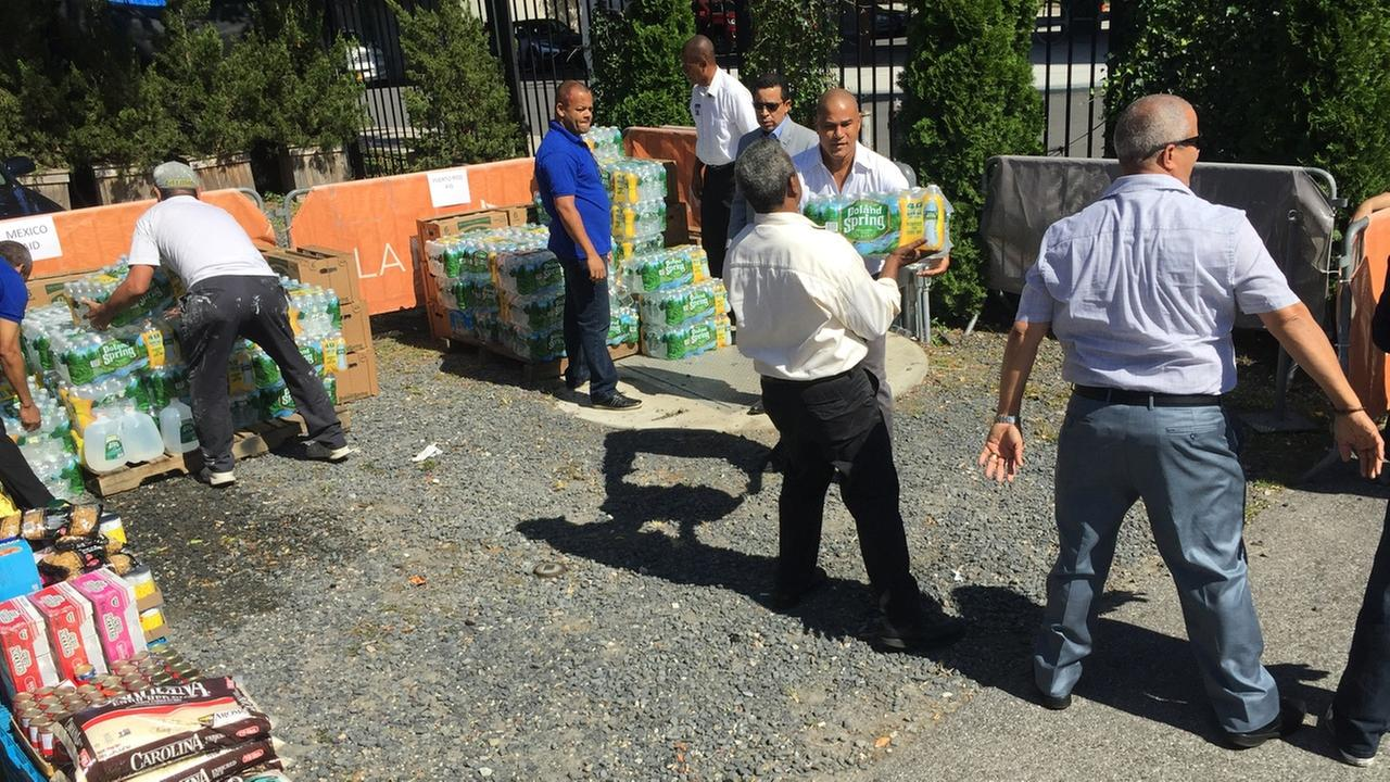 Collection of relief supplies underway in NYC for hurricane, earthquake victims