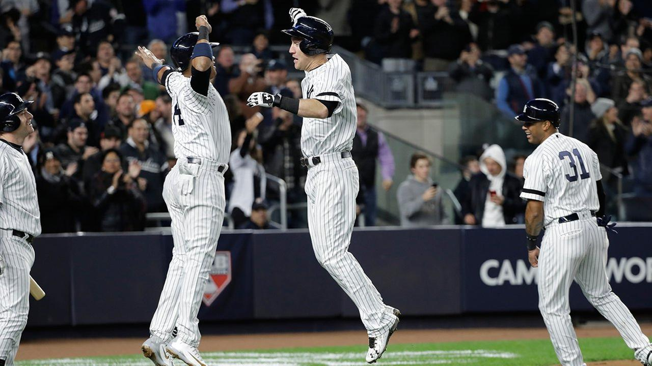 Timely hitting and dominant pitching lead the Yankees to a ALCS game 3 victory