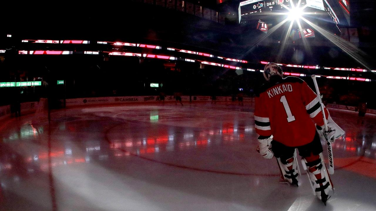 Devils fans help young anthem singer who forgets the words
