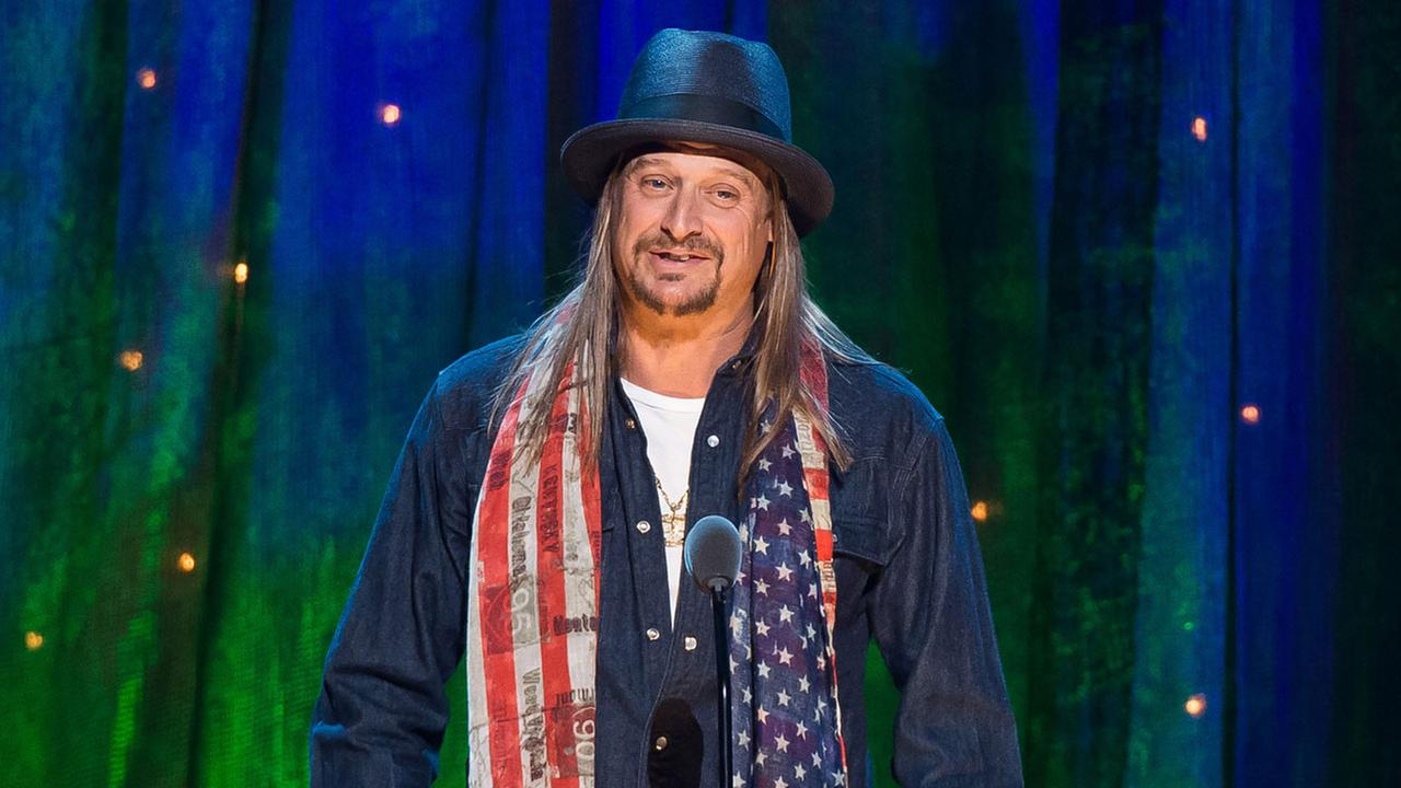 Kid Rock appears at the 31st Annual Rock and Roll Hall of Fame Induction Ceremony at the Barclays Center on Friday, April 8, 2016, in New York. (Photo by Charles Sykes/Invision/AP)