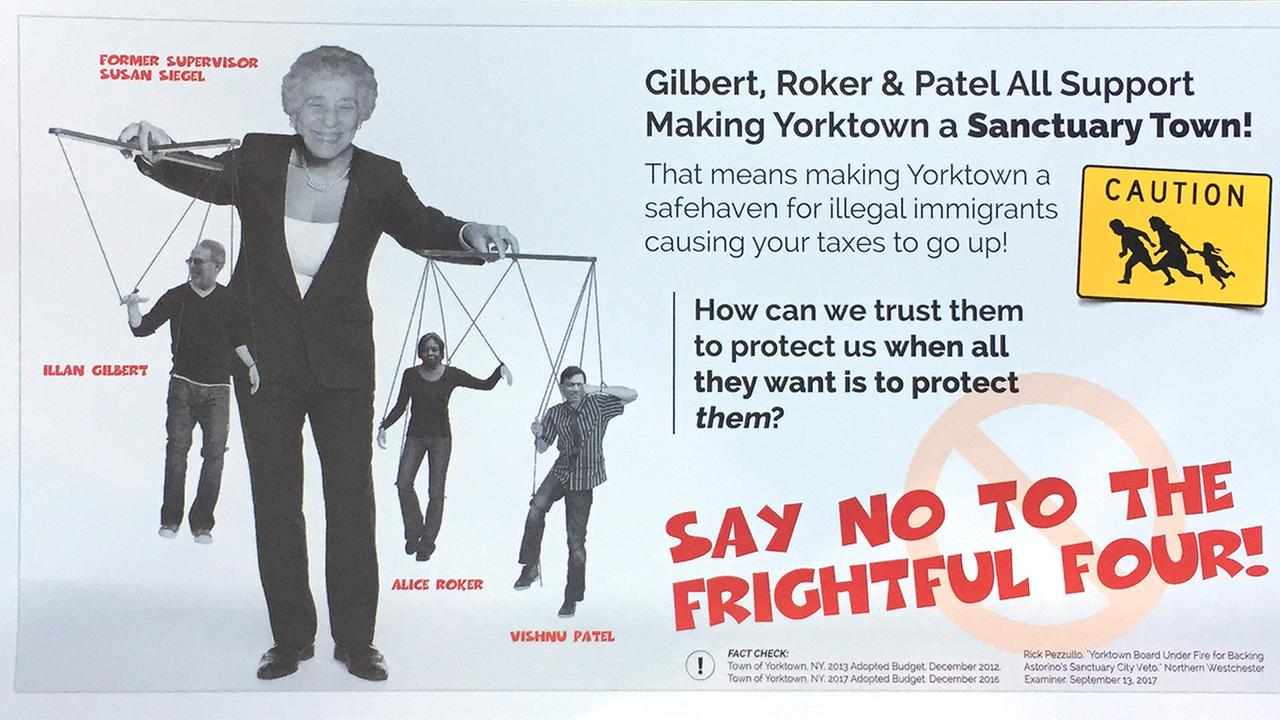 'Racist' campaign flyer depicting puppeteer sparks anger in suburban Yorktown