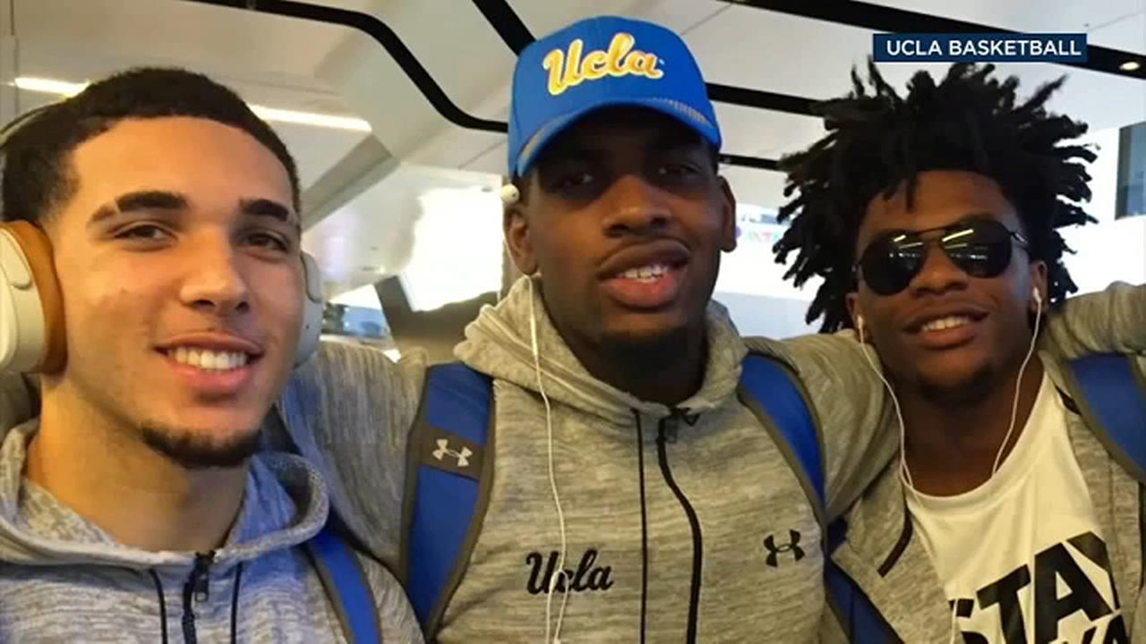 3 UCLA players return to US after China shoplifting allegations
