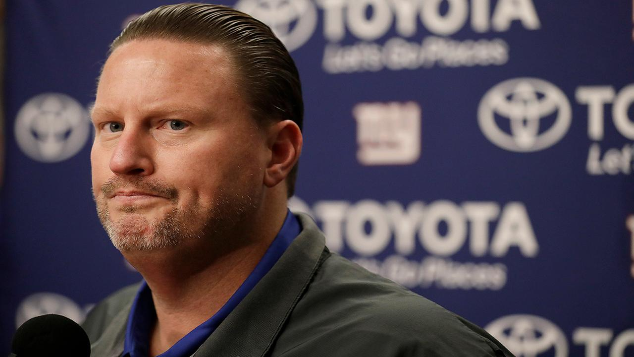 New York Giants head coach Ben McAdoo speaks at a news conference after a game between the Oakland Raiders and the Giants Sunday, Dec. 3, 2017. (AP Photo/Marcio Jose Sanchez)
