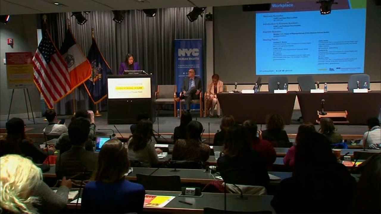 Meeting held in Queens addressing sexual harassment at work