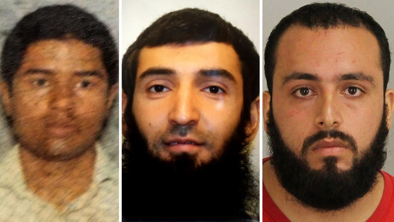 Left to right: Akayed Ullah, Sayfullo Saipov, Ahmad Khan Rahimi