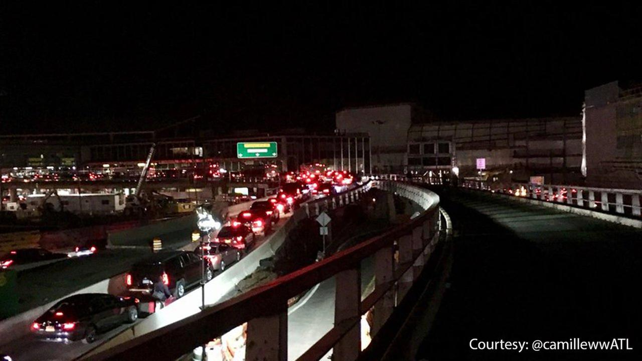 Traffic building at LaGuardia Airport as holiday travel begins