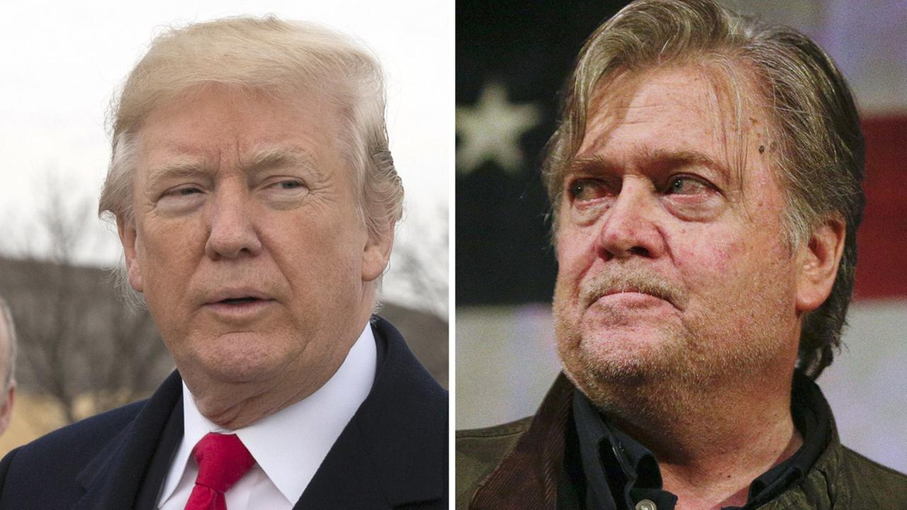 President Trump blasts former strategist Bannon over new book