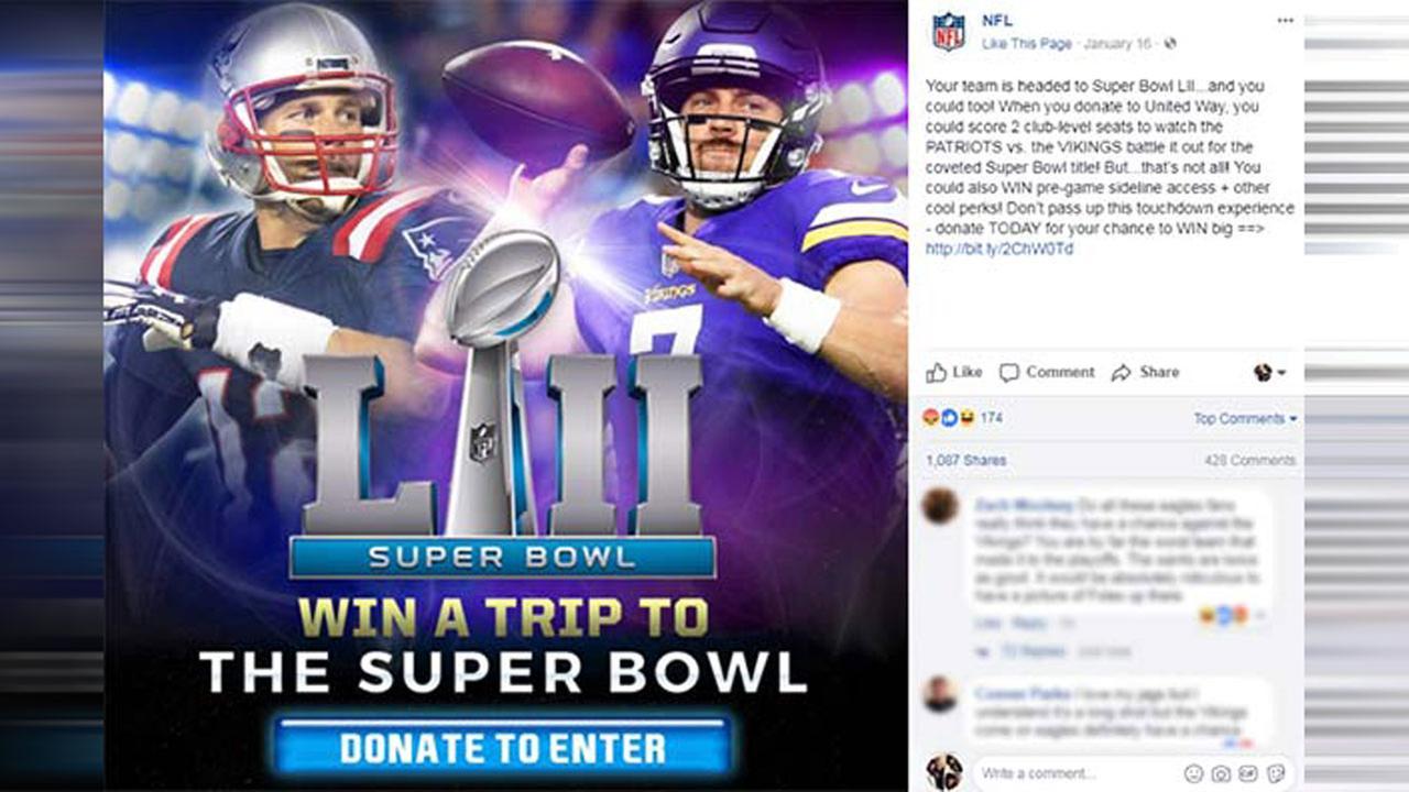 NFL prematurely promotes Vikings/Patriots Super Bowl