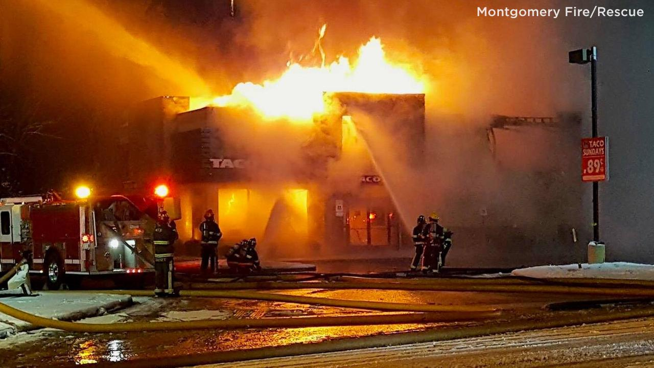 Candlelight vigil held for Taco Bell restaurant destroyed by fire
