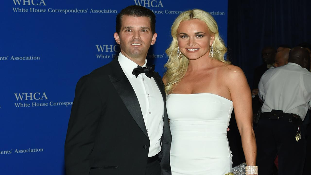 Donald Trump Jr. and Vanessa Trump attend the White House Correspondents Association Dinner, Saturday, April 30, 2016, in Washington. (Photo by Evan Agostini/Invision/AP)