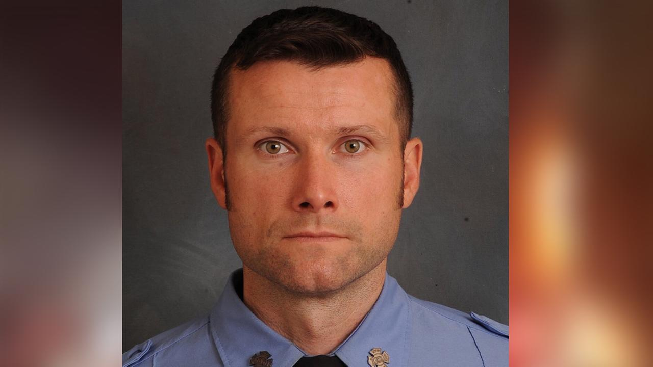 FDNY firefighter Michael Davidson, 37, was killed battling a fire at a building being used as a movie set in Harlem.