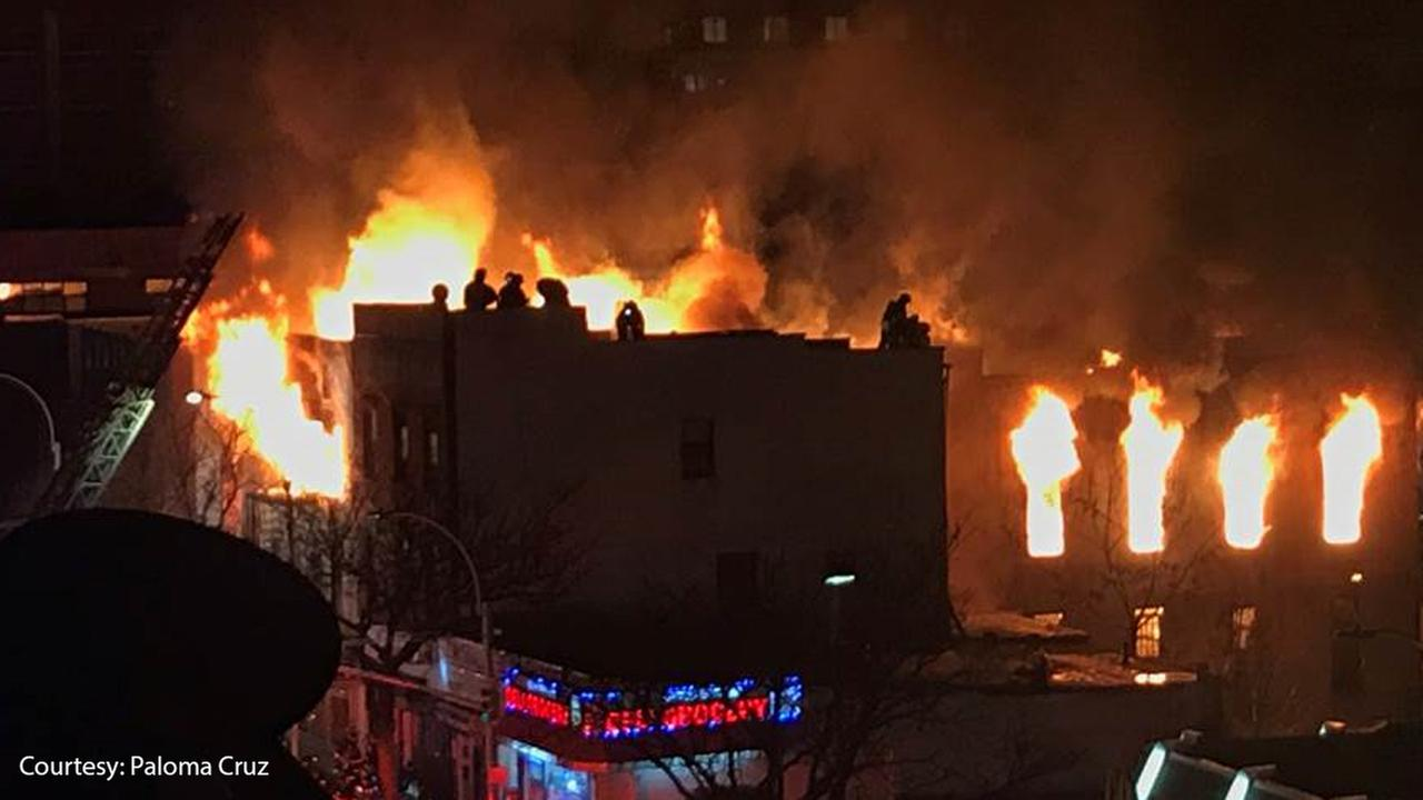 Fire burns through Bronx building, 1 firefighter hurt