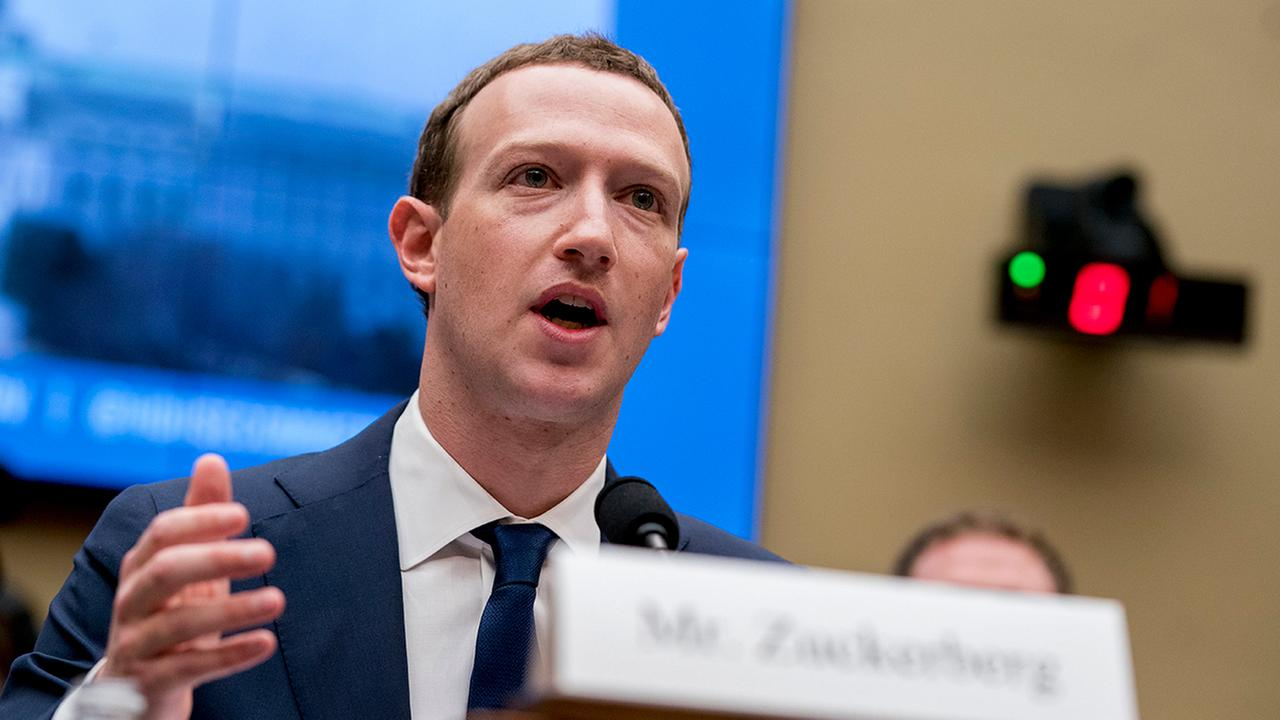 Facebook CEO Mark Zuckerberg testifies before a House Energy and Commerce hearing on Capitol Hill in Washington.  (AP Photo/Andrew Harnik)