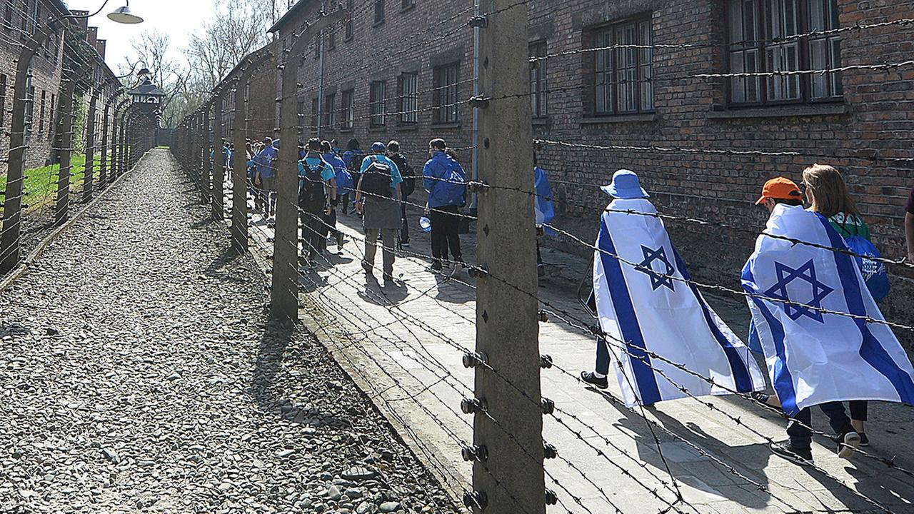 A group of Israeli youth visit the former Nazi German death camp of Auschwitz ahead of the yearly March of the Living.